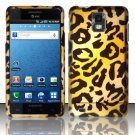 Hard Plastic Rubber Feel Design Case for Samsung Infuse 4G i997 - Golden Cheetah