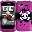 Hard Plastic Design Cover Case for HTC Radar 4G - Girly's Skull