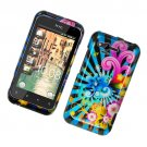 Hard Plastic Glossy Cover Case for HTC Rhyme/Bliss 6330 - Colorful Blossom