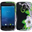 Hard Plastic Design Case for Samsung Galaxy Nexus CDMA (Verizon/Sprint) - Black & Green Flower