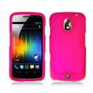 Hard Plastic Rubber Feel Case for Samsung Galaxy Nexus CDMA i515/i9250 (Verizon/Sprint) - Hot Pink
