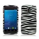 Hard Plastic Design Case for Samsung Galaxy Nexus CDMA (Verizon/Sprint) - Black & White Zebra