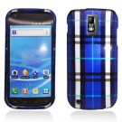 Hard Plastic Design Cover Case for Samsung Galaxy S II/Hercules T989 - Blue Plaid
