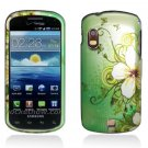 Hard Plastic Design Case for Samsung Stratosphere i405 - Green Flowers and Butterfly