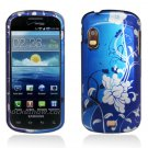 Hard Plastic Design Case for Samsung Stratosphere i405 - Blue Flowers and Vines