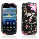 Hard Plastic Design Case for Samsung Stratosphere i405 - Pink Flowers and Butterfly