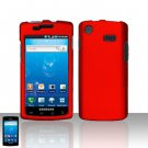 Hard Plastic Rubber Feel Case for Samsung Captivate i897 - Red