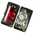 Hard Plastic Rubber Feel Design Case for Motorola Droid Bionic Targa XT875 - Black Skull and Angels