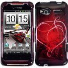 Hard Plastic Design Cover Case for HTC Radar 4G - Red Heart