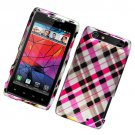 Hard Plastic Glossy Design Case for Motorola Droid RAZR XT912 - Multi-Color Checks