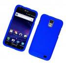 Hard Plastic Rubber Feel Case for Samsung Galaxy S II Skyrocket i727 (AT&T) - Blue
