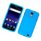 Hard Plastic Rubber Feel Case for Samsung Galaxy S II Skyrocket i727 (AT&T) - Light Blue