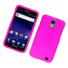 Hard Plastic Rubber Feel Case for Samsung Galaxy S II Skyrocket i727 (AT&T) - Hot Pink