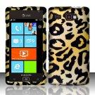 Hard Plastic Rubber Feel Design Case for Samsung Focus Flash i677 (AT&T) - Golden Cheetah