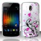 Hard Plastic Rubberized Design Case for Samsung Galaxy Nexus CDMA (Verizon/Sprint) - Pink Vines
