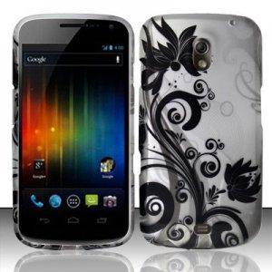 Hard Plastic Rubberized Design Case for Samsung Galaxy Nexus (Verizon/Sprint) - Black Vines