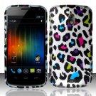 Hard Plastic Rubberized Design Case for Samsung Galaxy Nexus CDMA (Verizon/Sprint) - Rainbow Leopard