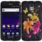 Hard Plastic Rubber Feel Design Case for Samsung Galaxy S II Skyrocket i727 - Heavenly Flowers