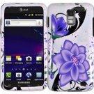 Hard Plastic Design Case for Samsung Galaxy S II Skyrocket i727 (AT&T) - Violet Lily