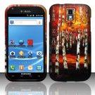 Hard Plastic Rubber Feel Design Case for Samsung Galaxy S II/Hercules T989 - Art Design II