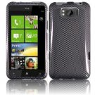 Hard Plastic Design Cover Case for HTC Titan X310e - Carbon Fiber