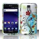 Hard Plastic Rubber Feel Design Case for Samsung Galaxy S II Skyrocket (AT&T) - Colorful Flowers