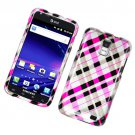 Hard Plastic Glossy Design Case for Samsung Galaxy S II Skyrocket i727 (AT&T) - Hot Pink Check
