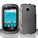 Hard Plastic Rubber Feel Design Case for Samsung DoubleTime i857 - Carbon Fiber