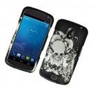 Hard Plastic Rubberized Design Case for Samsung Galaxy Nexus CDMA (Verizon/Sprint) - Skull & Angels