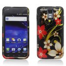 Hard Plastic Design Case for Samsung Galaxy S II Skyrocket (AT&T) - Red and Gold Flowers