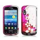 Hard Plastic Design Case for Samsung Stratosphere i405 - Hot Pink Flowers and Butterfly