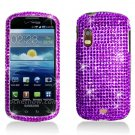 Hard Plastic Bling Rhinestone Design Case for Samsung Stratosphere i405 - Purple