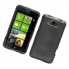 Hard Plastic Rubber Feel Design Case for HTC Titan X310e - Carbon Fiber