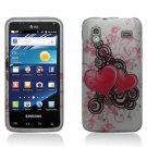 Hard Plastic Rubber Feel Design Case for Samsung Captivate Glide 4G - Lovely Hearts