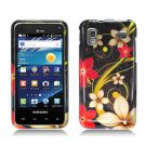 Hard Plastic Design Case for Samsung Captivate Glide 4G - Red and Gold Flowers