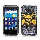 Hard Plastic Design Case for Samsung Captivate Glide 4G - Yellow Skull