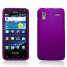 Hard Plastic Rubber Feel Case for Samsung Captivate Glide 4G (AT&T) - Purple