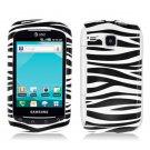 Hard Plastic Design Case for Samsung DoubleTime i857 (AT&T) - Black and White Zebra