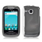 Hard Plastic Design Case for Samsung DoubleTime i857 (AT&T) - Carbon Fiber