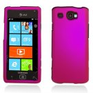 Hard Plastic Rubber Feel Case for Samsung Focus Flash i677 (AT&T) - Rose Pink