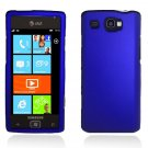 Hard Plastic Rubber Feel Case for Samsung Focus Flash i677 (AT&T) - Blue
