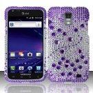 Hard Plastic Bling Rhinestone Design Case for Samsung Galaxy S II Skyrocket i727 - Purple & Silver