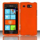 Hard Plastic Rubber Feel Case for Samsung Focus Flash i677 (AT&T) - Orange