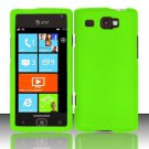 Hard Plastic Rubber Feel Case for Samsung Focus Flash i677 (AT&T) - Neon Green