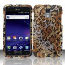 Hard Plastic Bling Rhinestone Design Case for Samsung Galaxy S II Skyrocket i727 - Golden Cheetah