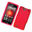 Hard Plastic Rubber Feel Case for Motorola Droid 4 XT894 (Verizon) - Red