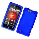 Hard Plastic Rubber Feel Case for Motorola Droid 4 XT894 (Verizon) - Blue