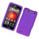 Hard Plastic Rubber Feel Case for Motorola Droid 4 XT894 (Verizon) - Purple