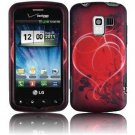 Hard Plastic Design Case for LG Enlighten VS700/Optimus Slider LS700 - Red Heart