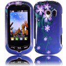 Hard Plastic Design Case for LG Enlighten VS700/Optimus Slider LS700 - Nightly Flowers